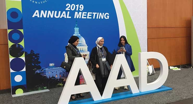 The American Academy of Dermatology's 2019 annual meeting was held in Washington, DC in March. Denver will host in 2020.