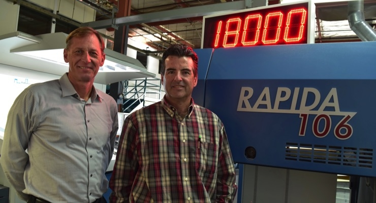 Marrs Printing & Packaging Adds Third Rapida 106 Seven-Color LED-UV Press