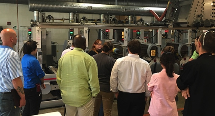 Students learn about printing during the NPIRI Summer Course. (Source: NAPIM)