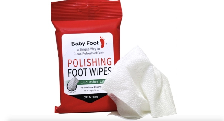 Polishing Foot Wipes Launch