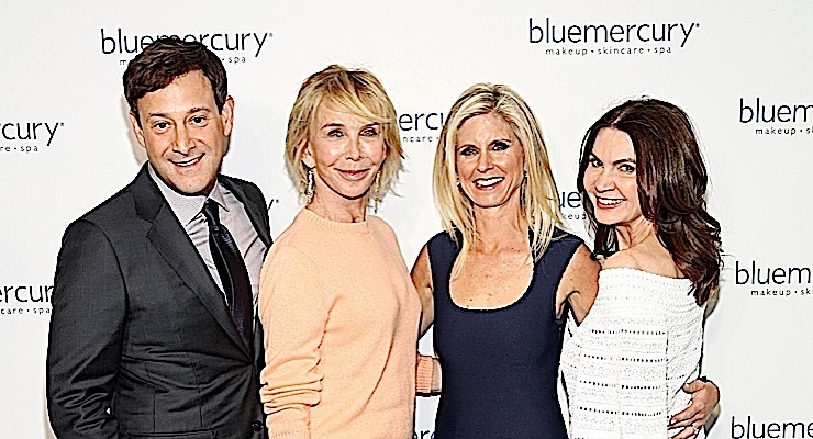 Barry Beck, Trudie Styler, Marla Beck, and Trish McEvoy at Bluemercury's 20th anniversary celebration.