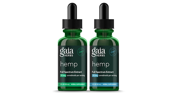 Gaia Herbs Launches Premium Full Spectrum Hemp Line