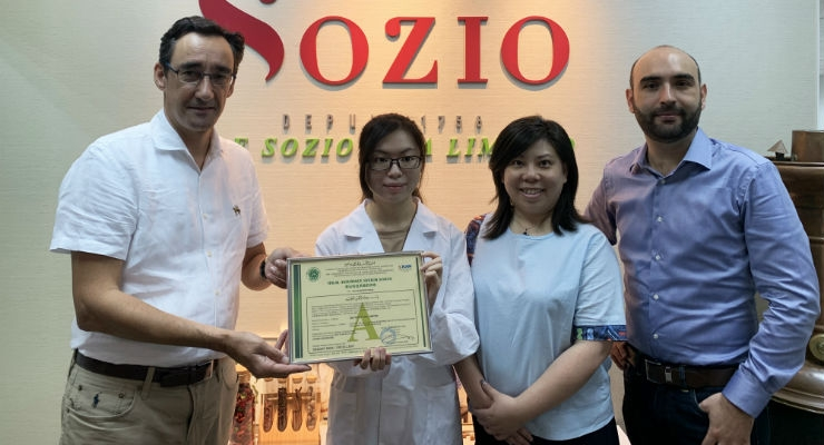 Sozio's Hong Kong Factory Receives MUI Halal Certification
