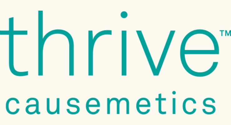 This campaign follows three recent major donations from Thrive Causemetics. Image courtesy of PRNewswire.