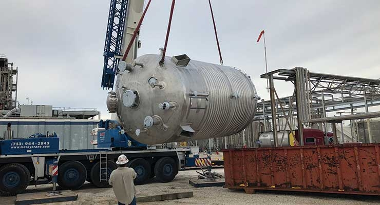 A new reactor is installed in Pasadena.