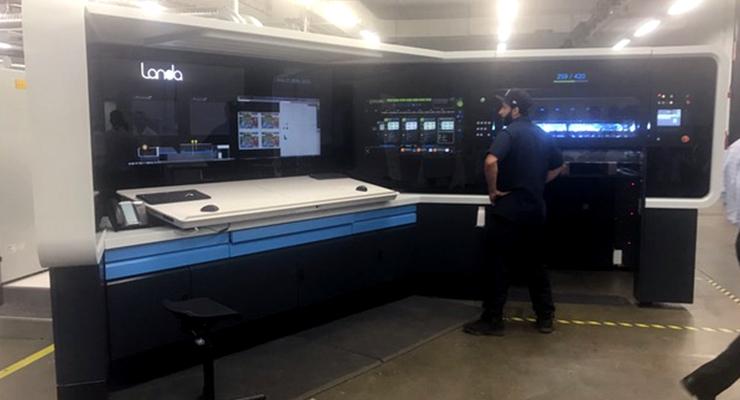 The Landa S10P nanographic printing press at Mercury Print Productions (Rochester, NY)
