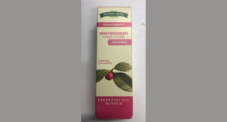 Nature's Truth Recalls Wintergreen Essential Oil