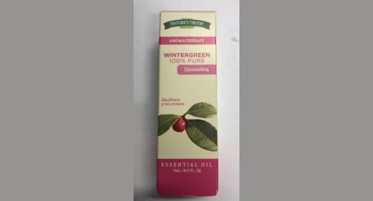 Nature's Truth Recalls Wintergreen Essential Oil
