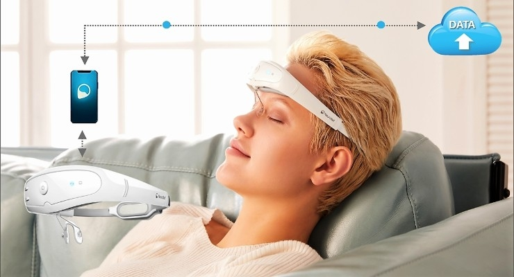 The Relivion non-invasive, adaptive digital treatment for migraine. Image courtesy of Neurolief Ltd.