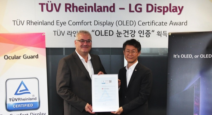 LG Display Receives International Eye Comfort Display Certification for OLED TV Panels