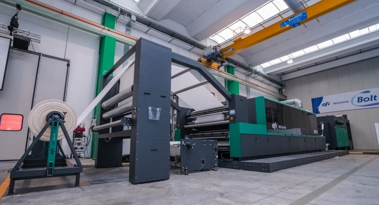 EFI Reggiani Sells 4th Reggiani BOLT Single-Pass Textile Printer