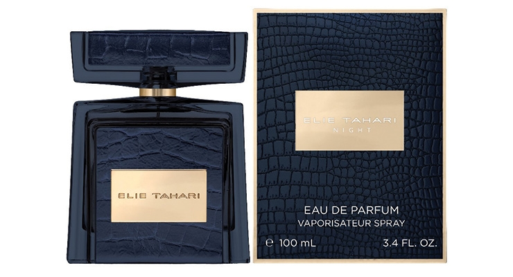Elie Tahari Night Eau de Parfume, launching Fall 2019,  has a carton decorated to match the bottle.