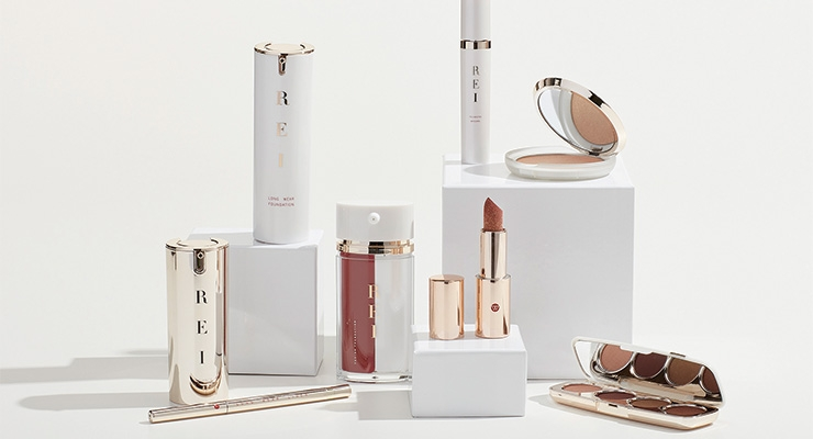 Inspired by Rei Kawakubo, WWP's REI collection offers minimalistic glamour, neutral shades, strong typography and unique delivery system packages for the combination skincare cosmetic line.
