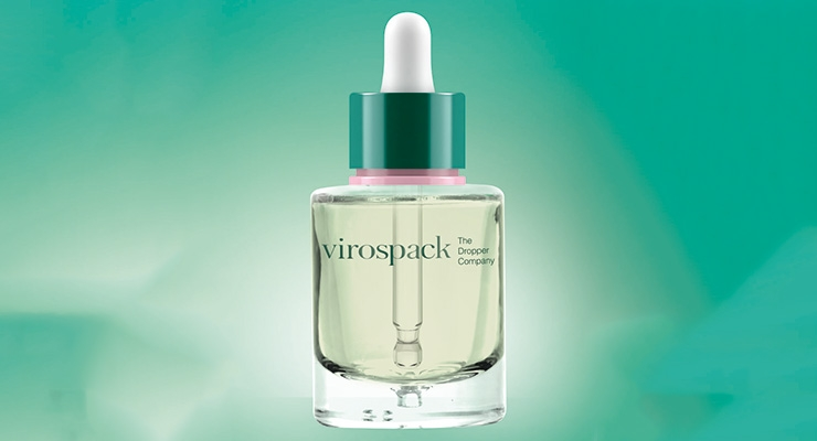 Virospack's childproof dropper, developed for the cosmetics business, features a new sealing mechanism that forces the user to press down and turn, to open.