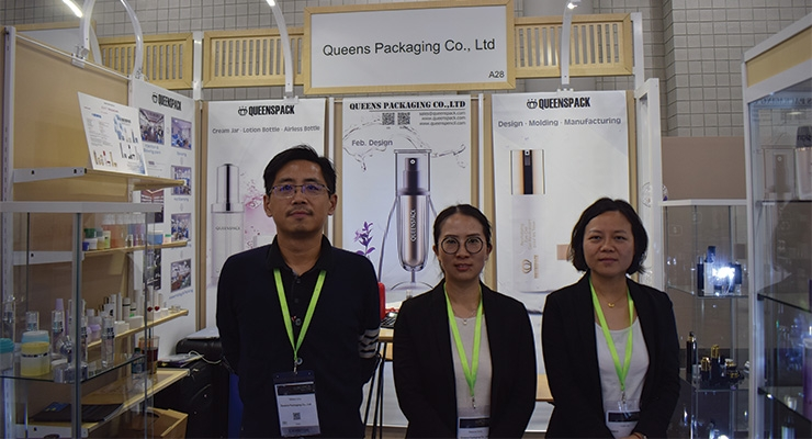Queens Packaging (L-R): William Chu, Vivian Yin, Rebecca Dong