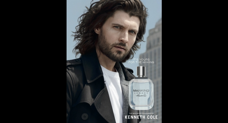 Cole partnered with perfumer Stephen Nilsen to develop Mankind Legacy. Image courtesy of PRNewswire.