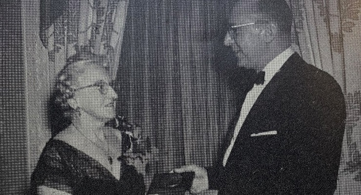 Florence Wall (left) at an SCC annual meeting.