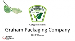 Graham Packaging receives 2019 Sustainability Award