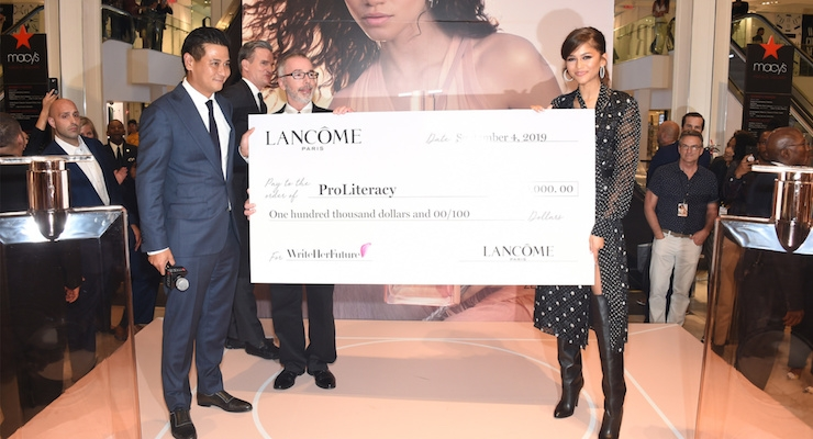 Zendaya Helps Lancôme USA Fund Literacy Program for Women