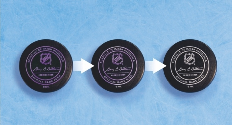 NHL: 2019-20 Season Pucks Feature Color-Changing Thermochromic Coating