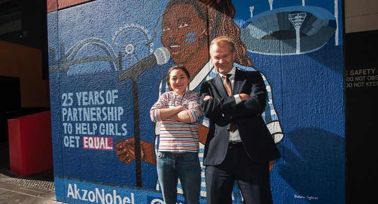 AkzoNobel, Plan International Australia Mural Inspires Girls