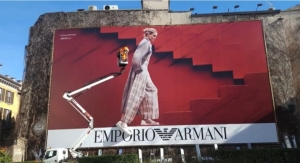 Armani 3D Billboard Campaigns Leverage Colorzenith