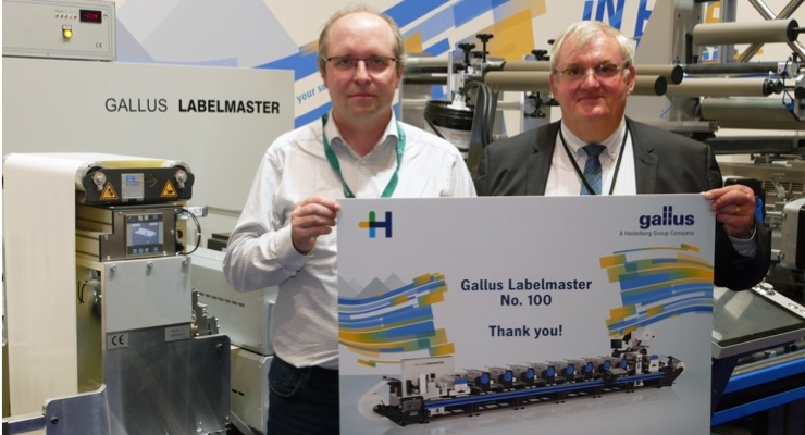 Gallus Celebrates 100th Labelmaster Sold