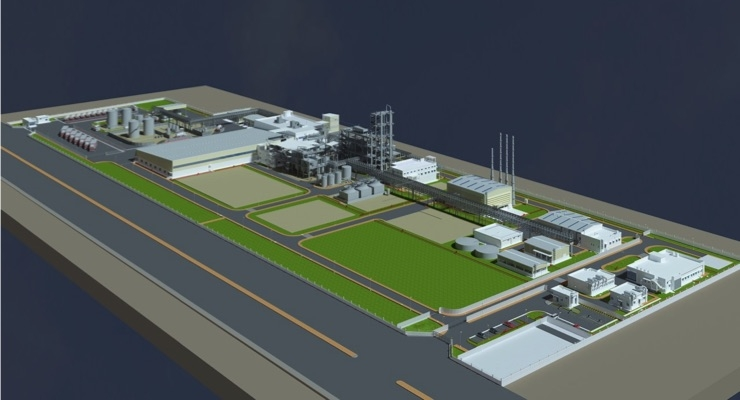 Perstorp's planned Penta manufacturing plant in Gujarat, India./Courtesy Perstorp