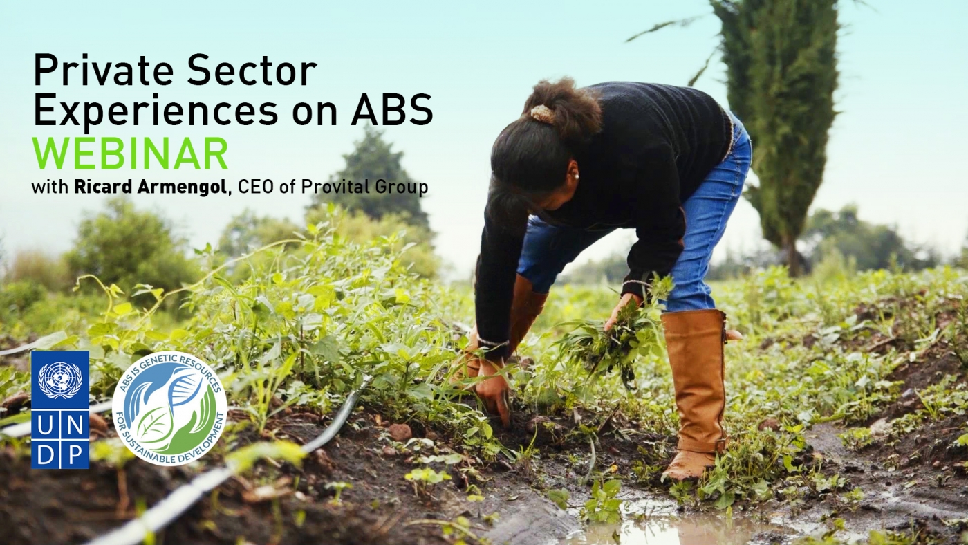Private Sector Experiences on ABS Webinar, with Ricard Armengol, CEO of Provital Group