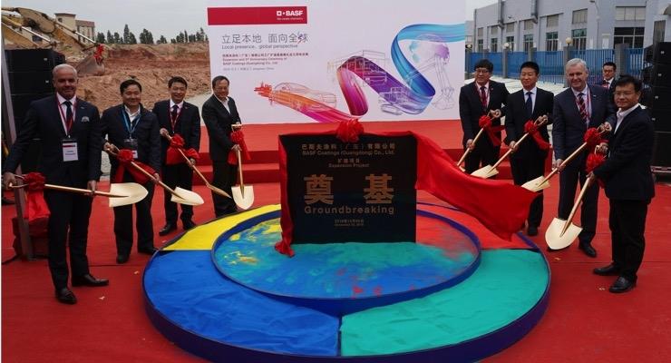 BASF Doubling Automotive Refinish Coatings Production Capacity at Jiangmen, China Site