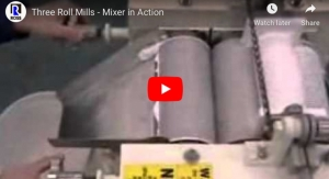 Three Roll Mills - Mixer in Action
