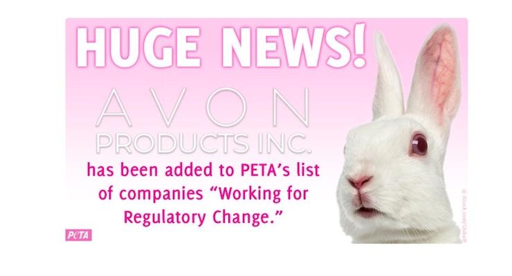 PETA Recognizes Avon