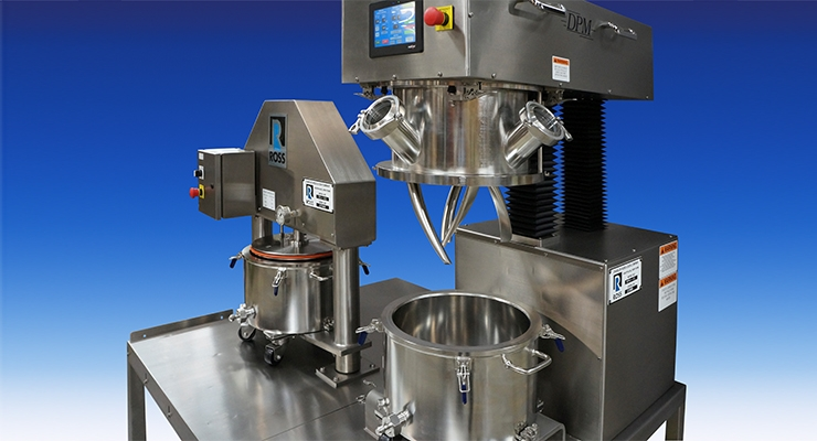 ROSS Offers Double Planetary Mixing, Discharging in Sanitary Turnkey System