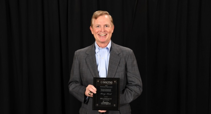 MFG Chemical Receives 2019 Plant EHS&S Performance Improvement Award