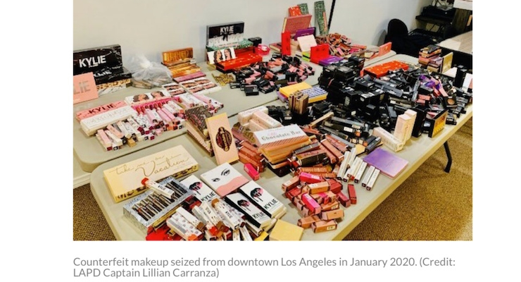 Counterfeit Cosmetics Worth $300K Seized in Los Angeles