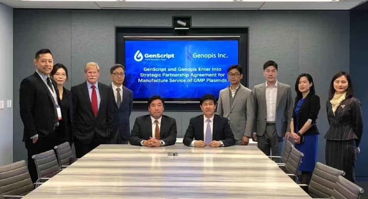 GenScript, Genopis Enter Strategic Mfg. Pact