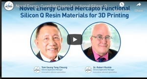 Novel Energy Cured Mercapto Functional Silicon Q Resin Materials for 3D Printing