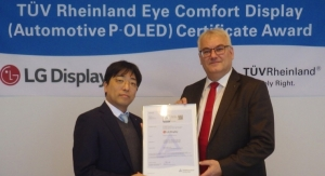 LG Display Receives Eye Comfort Display Certification for Automotive P-OLED Displays