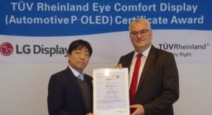 LG Display Receives Eye Comfort Display Certification for Automotive P-OLED Displays
