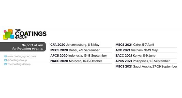 Middle East Coatings Show 2020 Rescheduled
