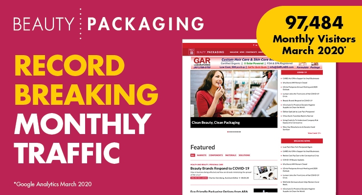 Beauty Packaging Announces Record-Breaking March 2020 Website Traffic