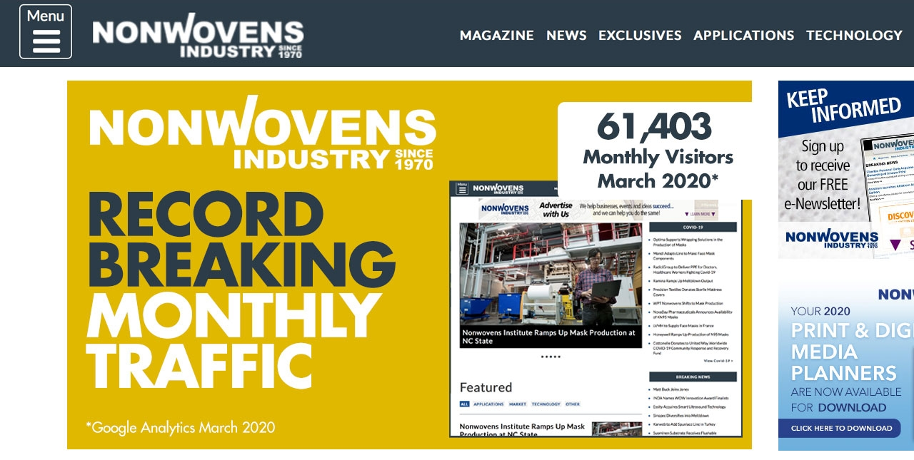 Nonwovens-Industry.com Traffic Soars