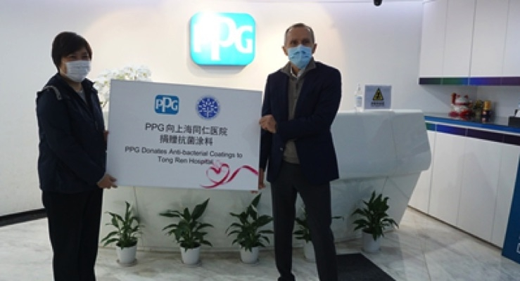 PPG Donates Anti-bacterial Coatings to Shanghai Hospital