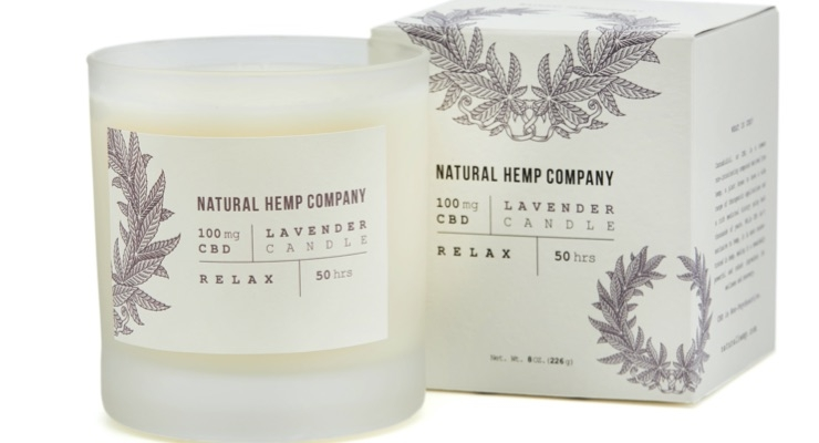 Natural Hemp Company Adds CBD Candle