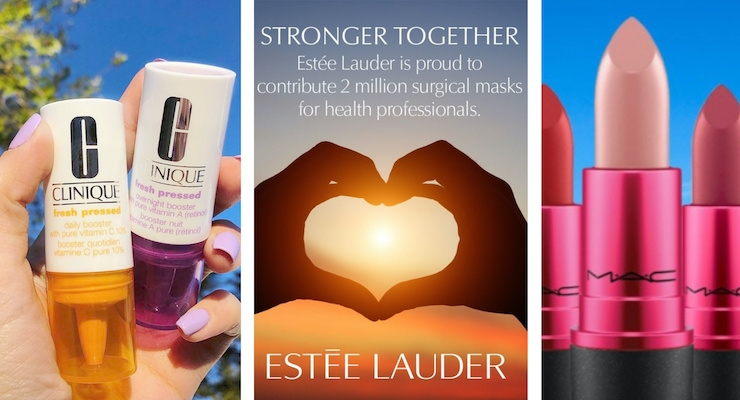 Estée Lauder, MAC, & Clinique Help COVID-19 Relief Efforts