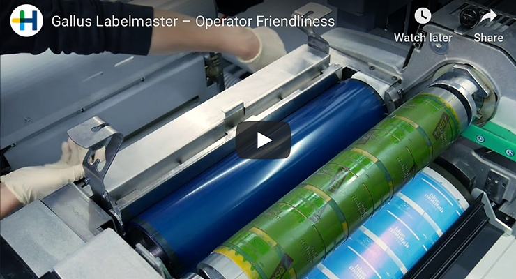 Gallus Labelmaster – Operator Friendliness