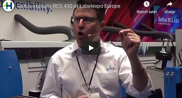 Gallus explains RCS 430 at Labelexpo Europe
