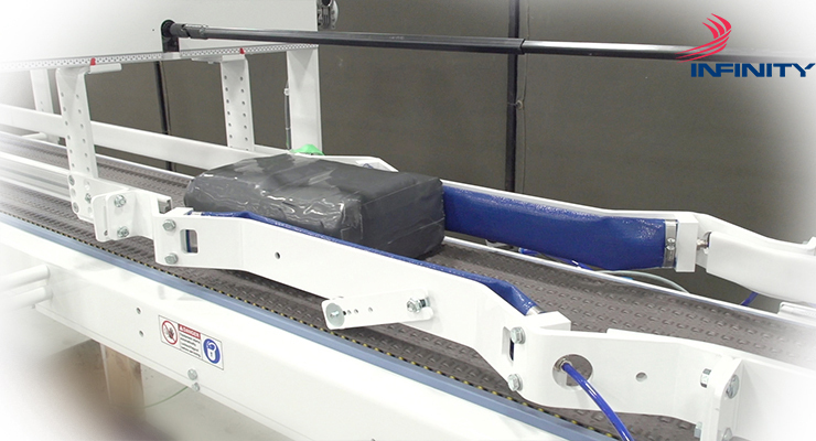 World-class conveyor systems and line synchronization systems for non-woven products