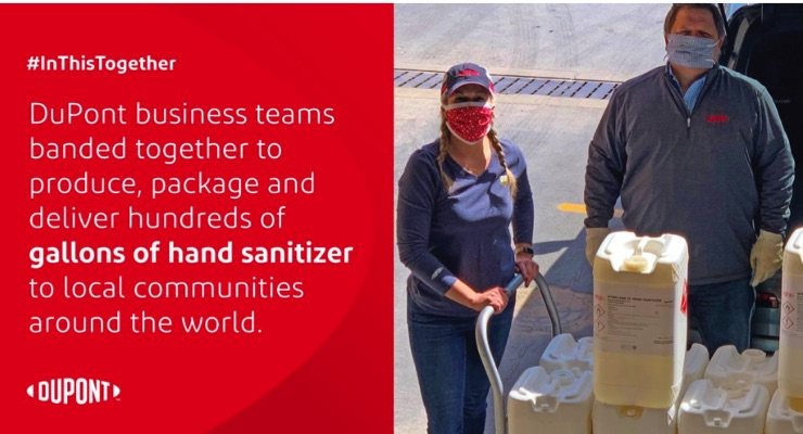 DuPont Businesses Band Together to Produce Hand Sanitizer