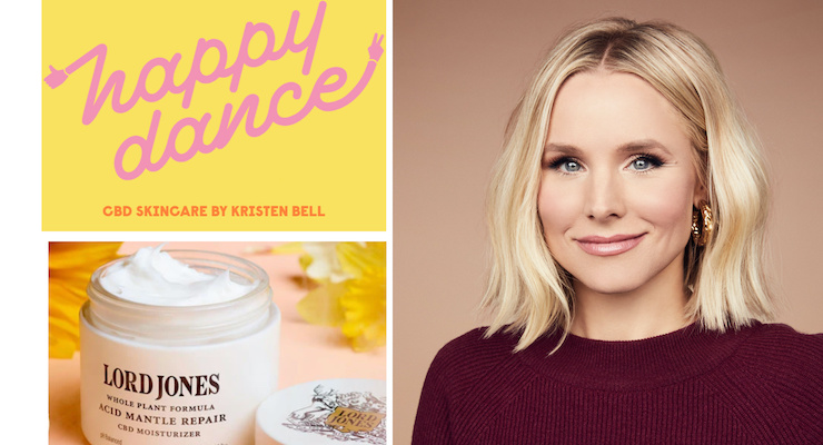 Lord Jones Co-Creates New CBD Skincare Line with Kristen Bell